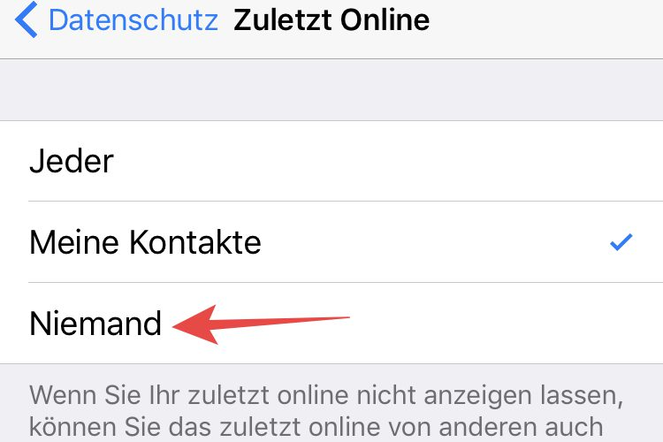 online status whatsapp ausschalten