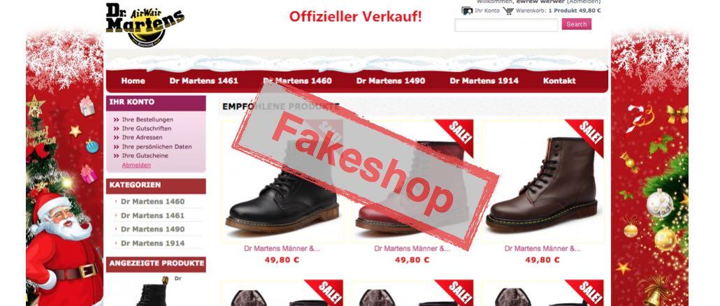 drmartens1460 de ist ein Fakeshop