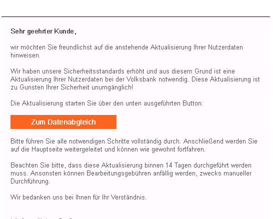 2016-12-16 Volksbank Phishing