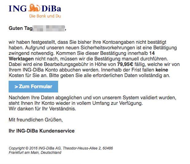 Ing Diba Tan Liste Verloren
