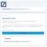 2017-01-22 Phishing Deutsche Bank Sicherheitsmitteilung - Anmeldeversuch