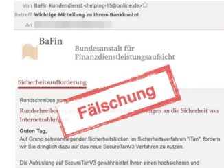 BaFin SecureTanV3 Phishing