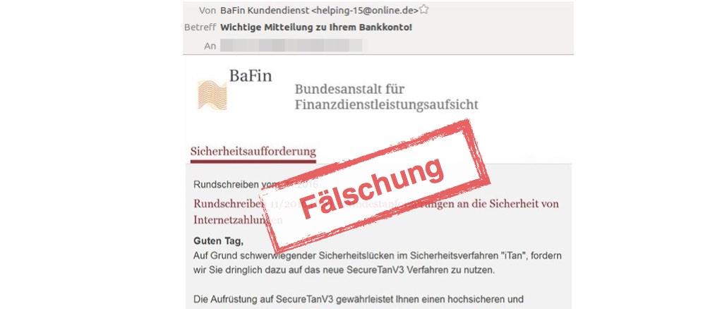 BaFin SecureTanV3 Phishing