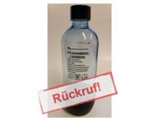 Rückruf von SodaStream: PEN-Sprudelflaschen nicht sicher