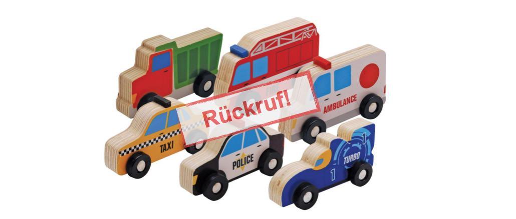 Speelgoedland: Rückruf von Holzspielzeugautos