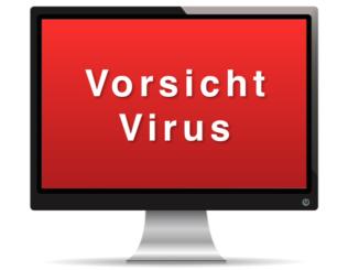 Vorsicht Virus Warnung