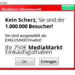 Werbung für das Media Markt Gewinnspiel auf Webseiten