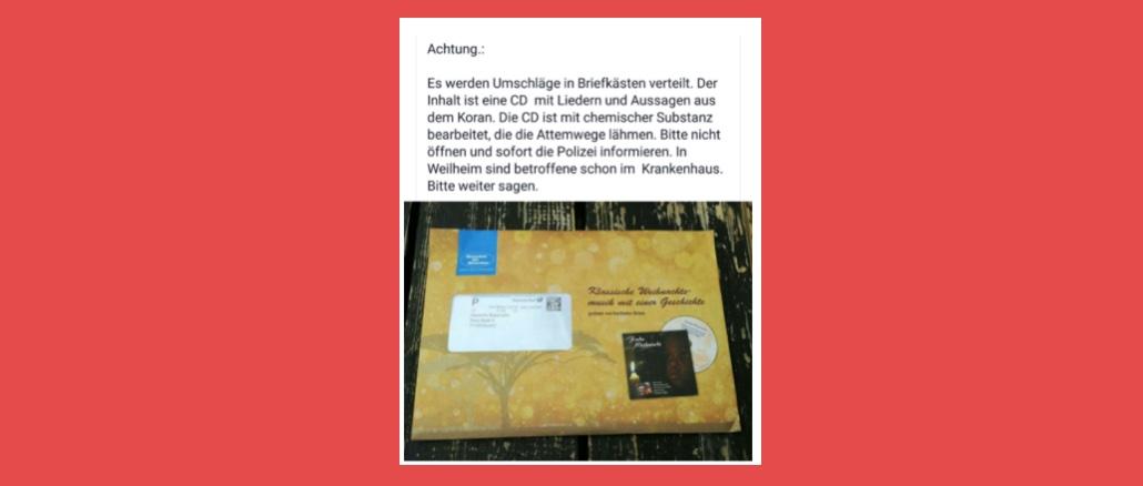 WhatsApp Kettenbrief: Warnung vor vergifteter CD mit Liedern aus dem Koran