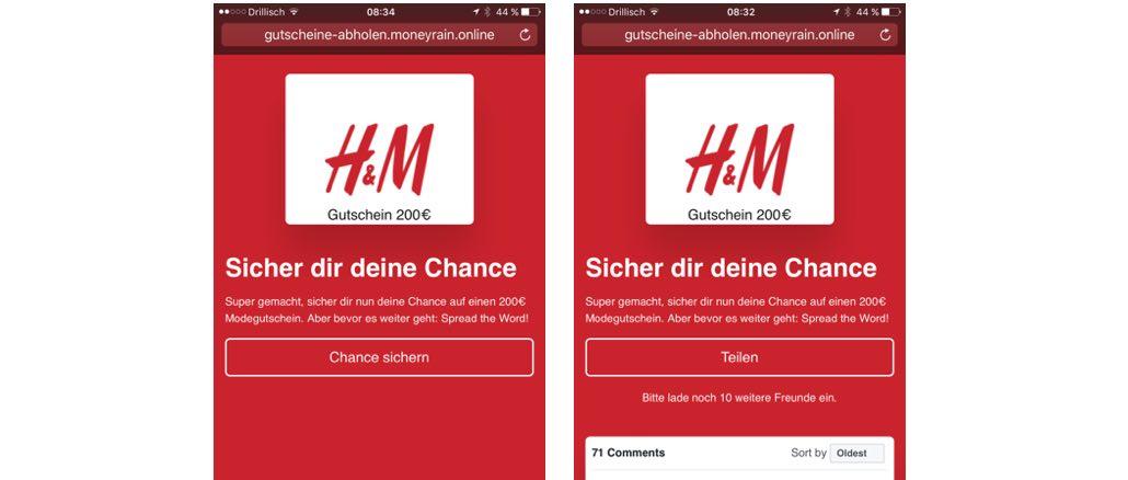 WhatsApp Spam MH Gutschein