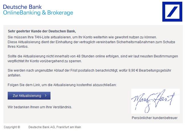 beim online banking anmelden vergessen