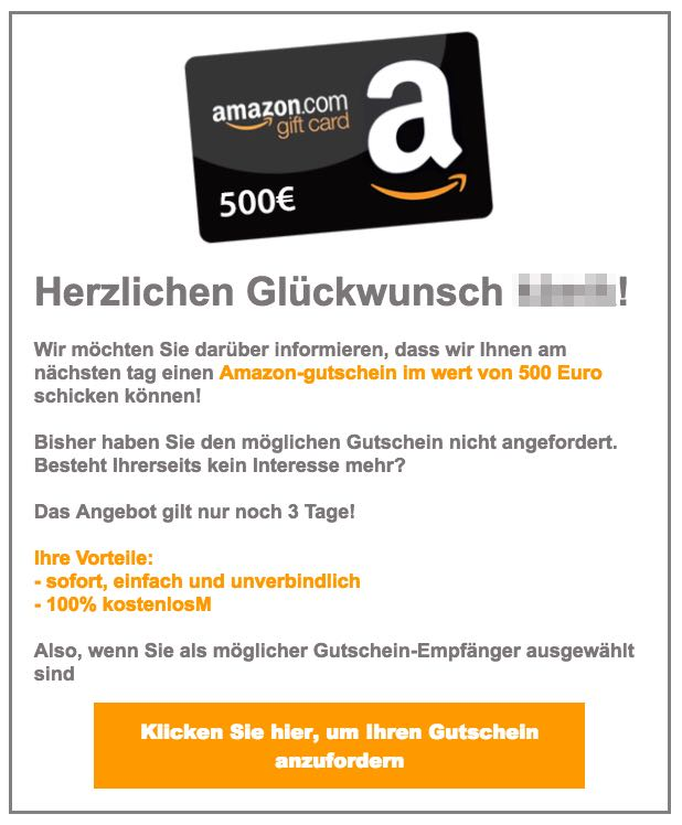 amazon gutschein scam
