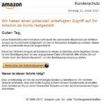 2017-02-01 Amazon.de Kundenschutz - Information Ihres Kundenkontos