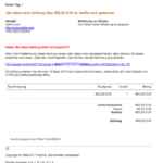 2017-03-13 PayPal Phishing Zahlung an Netflix