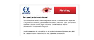 2018-04-09 Advanzia Bank Spam Nachricht Neue Mitteilung