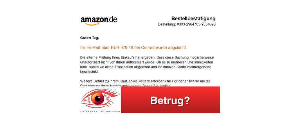 Amazon Bestellbestätigung Onlineshop
