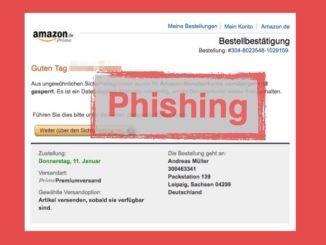 Amazon Mail Bestellbestätigung ist Phishing