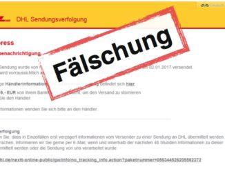 DHL Phishing Ihr DHL Paket ist auf dem weg