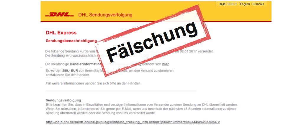 deutsche post dhl sendungsverfolgung