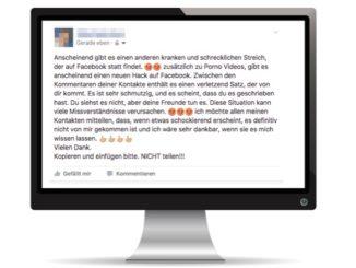 Facebook Kettenbrief automatische Posts