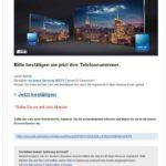 Fake-E-Mail im Namen von Samsung Gewinnspiel