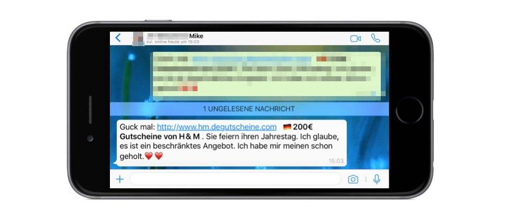 Gibt es die 200€ Gutscheine von H&M über WhatsApp wirklich?