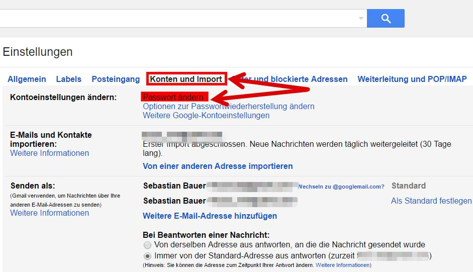gmail passwort vergessen sms