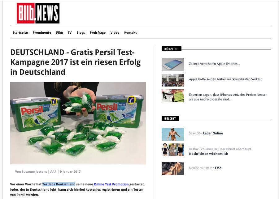 Gratis Persil Test-Kampagne 2017
