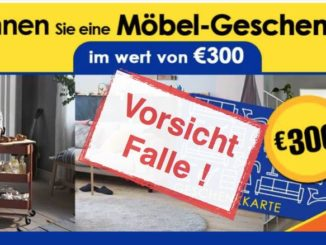 IKEA Gewinnspiel Kostenfalle Faelschung