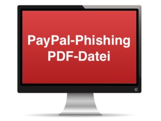 PayPal Phishing E-Mail PDF-Datei