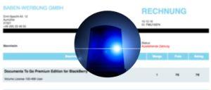 Polizei warnt vor gefaelschten Rechnungen Software