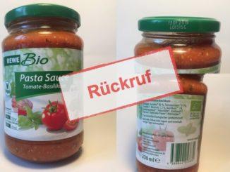 REWE und NABA rufen Bio Pasta Sauce Tomate-Basilikum zurück