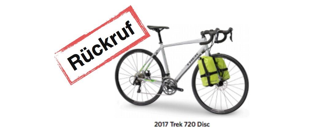 Rueckruf Trek 720 Disc