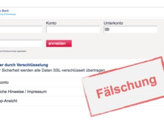 SMS der Deutschen Bank