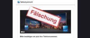 Samsung-Gewinnspiel ist eine Fälschung