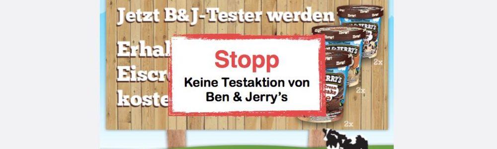 Ben & Jerrys Tester gesucht: Willst Du auch gratis Ben & Jerry's Eis testen (Update)