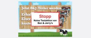 Spam-Mail Eiscrem-Tester gesucht Ben und Jerrys
