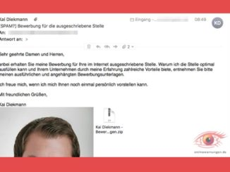 Warnung Bewerbung von Kai Diekmann ist ein Virus