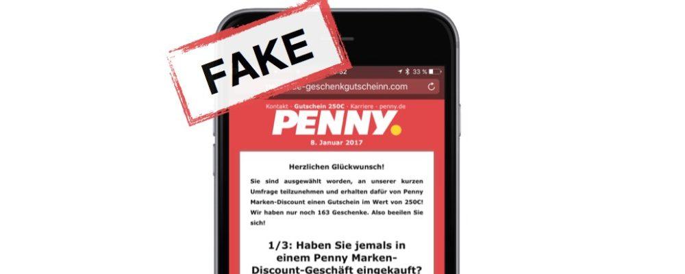 WhatsApp: 250€ Gutscheine von PENNY sind eine Werbefalle – Update