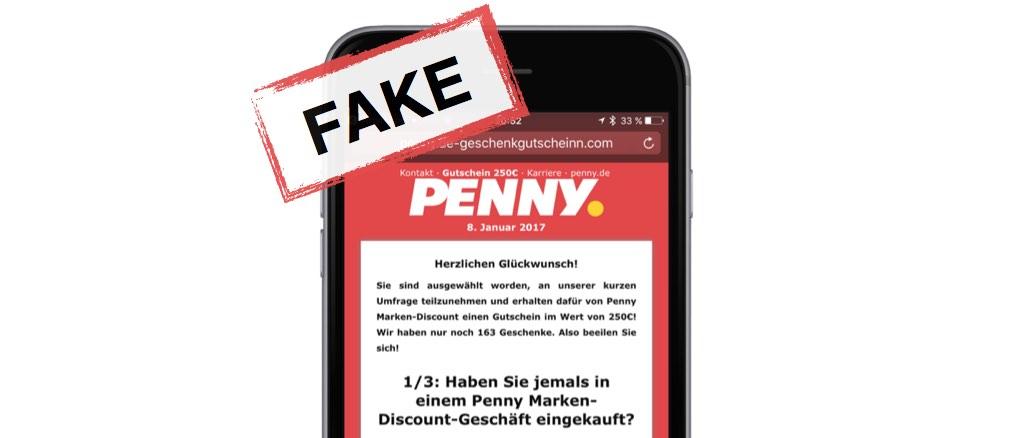 WhatsApp 250 Euro Gutscheine von PENNY ist eine Werbefalle