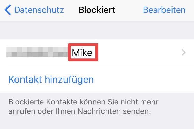 Sie blockiert mich bei whatsapp