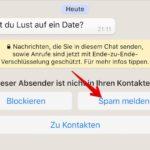 WhatsApp Spam melden 1