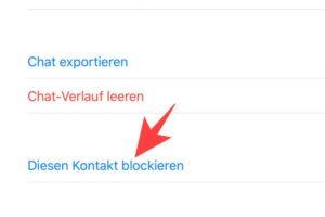 WhatsApp blockieren neuer Kontakt 2