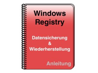 Windows Registrierungsdatenbank Registry Datensicherung