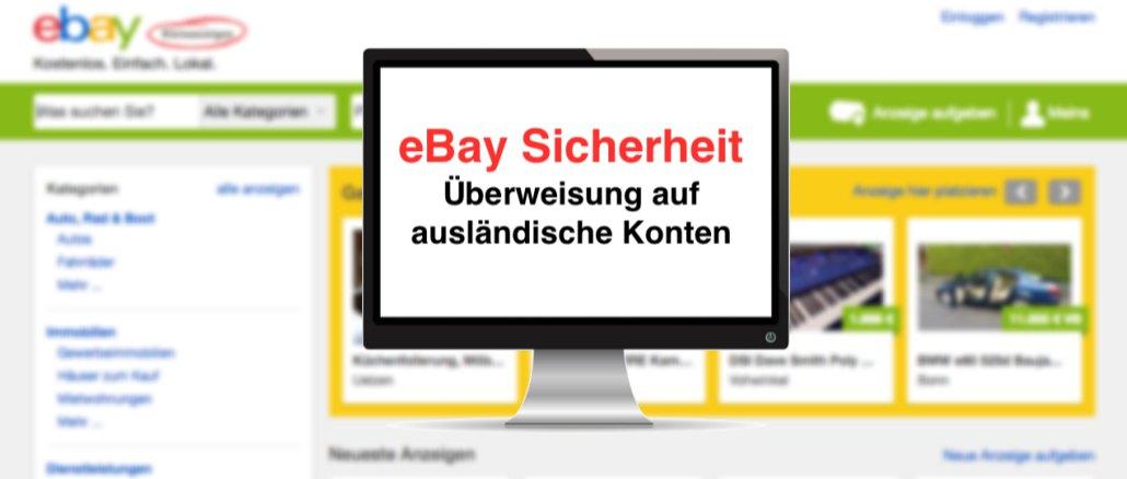 ebay kleinanzeigen betrug berweisung auf polnisches konto warnung. Black Bedroom Furniture Sets. Home Design Ideas