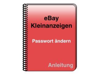 eBay Kleinanzeigen Passwort ändern