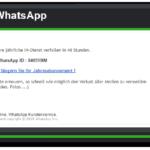 2017-02-15 WhatsApp Spam Betrug КONTO-AKTUALISIERUNG