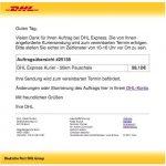 2017-02-21 DHL Express Kurier - Neuer Auftrag