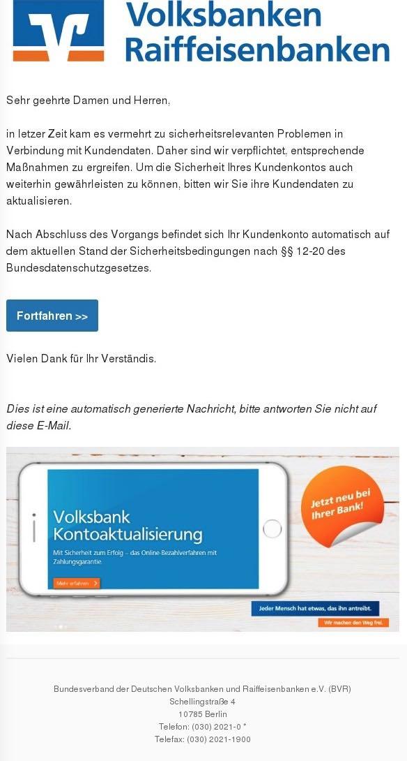 2017-02-25 Volksbanken Spam Sicherheitsupdate