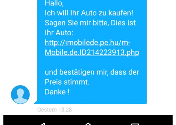2017-02-28 mobile-de Betrug Phishing SMS