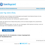 Barclaycard Phishing Mail